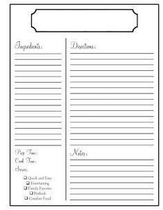 class recipe book template - Google Search | Auction ideas ...