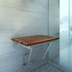 dreamline shsttk folding teak shower seat supports up to 250 lbs