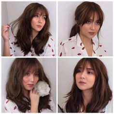 Kathryn Bernardo 🌟 Almost all the hair colour trends 2019 to inspire you to swap hair for the latest Asian Short Hair, Short Hair With Bangs, Full Bangs, Kathryn Bernardo Hairstyle, Kathryn Bernardo Outfits, Hair Color For Morena Skin, Medium Hair Styles, Short Hair Styles, Bright Hair Colors