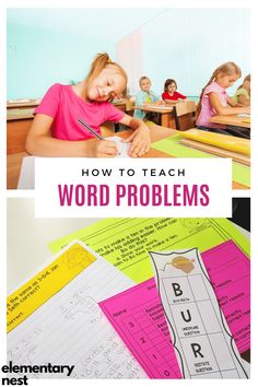 Learn more about teaching word problem strategies to help your and grade students solve word problems in their common core mathematics unit. Teaching Second Grade, 1st Grade Math, Subtraction Activities, Math Activities, Teaching Jobs, Teaching Ideas, Teaching Measurement, Teaching Place Values, Teaching Addition