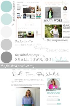 Blog design process for Small Town, Big Wardrobe. @Catherine