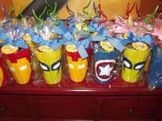 My party party favors for kids birthday, birthday parties, boy birthday Party Favors For Kids Birthday, Superhero Birthday Party, 4th Birthday Parties, Birthday Fun, Party Favours, Superhero Party Favors, Birthday Ideas, Avenger Party, Anniversaire Wonder Woman