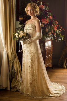 Gorgeous Wedding Dresses From 'Nashville,' 'Friends,' and Other TV Shows imageMeghan Markles Hochzeitskleid Anna. Dress By MalinaBest vintage wedding dress sleeve Ideas Tuxedos + S… Downton Abbey Costumes, Downton Abbey Fashion, Rose Wedding, Wedding Gowns, Old Wedding Dresses, Modest Wedding, Wedding Album, Mermaid Wedding, Fashion Mode