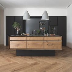 One of the most popular interior design for home is modern. The modern interior will make your home looks elegant and also amazing because of its natural material. If you want to design your home inte Kitchen Inspirations, Home Decor Kitchen, Scandinavian Kitchen, Bespoke Kitchens, Kitchen Remodel, Kitchen Decor, Wood Kitchen, Home Kitchens, Modern Kitchen Design