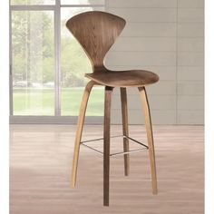 Fine Mod Imports 30 in. Wooden Bar Stool