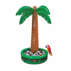 1.82m Giant Inflatable Jumbo Palm Tree Drinks Beer Cooler Summer BBQ Jungle Safari Pirate Hawaiian Luau Party Decoration Parrot Pool: Amazon.co.uk: Toys & Games