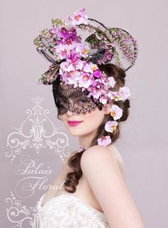 Collaborate with the Flowers for Everyone design team and your favourite milliner to create a show stopping floral headpiece at the Spring Racing Carnival Theme Carnaval, Costume Venitien, Spring Racing Carnival, Floral Headdress, Masquerade Party, Masquerade Masks, Beautiful Mask, Carnival Masks, Floral Fashion