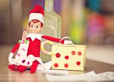 Lots of fun things we've been doing with our Elf on the Shelf, Matilda! A bounce house in the family room, block castles, rock concerts, vacations with handmade stockings and suitcases and more!