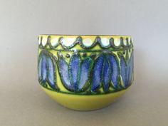 Strehla bluebell East German  bowl / planter , stylish Mid Century Modern 1970s  Ceramic.