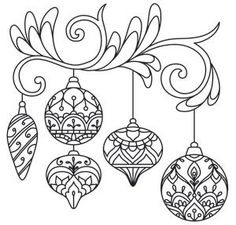 Delicate December - Ornaments design (UTH7259) from UrbanThreads.com by crazy sheep
