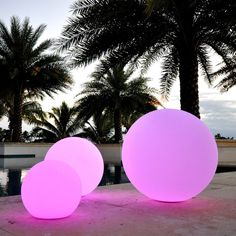 PublicLight LED Illuminated All-in-1 Orb Light/ Floating Pool Ball/ Floor Lamp/ Hanging Lantern