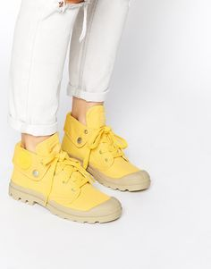 Model Palladium Pampa Hi Boots In Yellow For Men  Lyst
