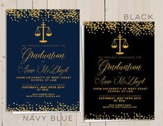 16 law school graduation invitation wording ideas school grad law graduation invitation law school invitation gold printable law school graduation invites navy stopboris Images