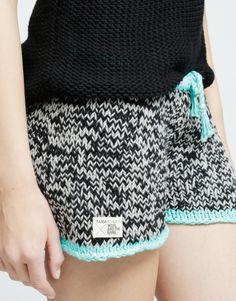Shakti Shorts Kit by Wool and the Gang Crochet Shorts, Lace Shorts, Knit Crochet, Knit Pants, Knit Dress, Leggings Are Not Pants, Knitting Stiches, Yarn Inspiration, Knitwear Fashion