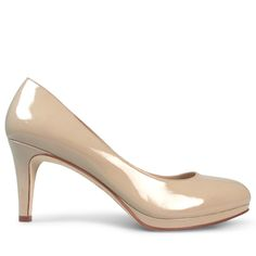 This is the perfect little heel for the girl on the go. Crafted from pretty nude patent, Bailey has a 7cm* stiletto heel and round toe, giving feminine charm to an elegant silhouette.  Leather Upper Leather Lining Padded Footbed Spanish Resin Sole