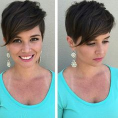 Today we have the most stylish 86 Cute Short Pixie Haircuts. We claim that you have never seen such elegant and eye-catching short hairstyles before. Pixie haircut, of course, offers a lot of options for the hair of the ladies'… Continue Reading → Haircut For Thick Hair, Cute Hairstyles For Short Hair, Hairstyles Haircuts, Straight Hairstyles, Short Hair Styles, Short Hair Cuts For Women With Bangs, Woman Hairstyles, Bob Haircuts, Quick Hairstyles