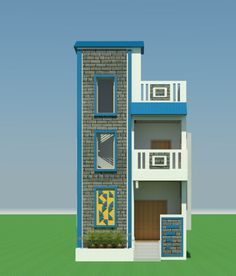 Simple House elevation Indian House Front Wall Design, Single Floor House Design, House Outside Design, Home Design Floor Plans, Unique House Design, 3 Storey House Design, Duplex House Plans, Bungalow House Design, Front Elevation Designs