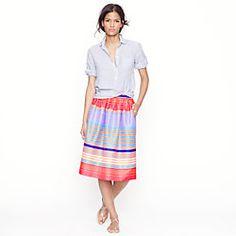 Neon-stripe skirt...