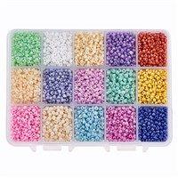 12//0 10000 Ceylon Pearl Glass Seed Beads 1.5mm Storage Box Colour Choice