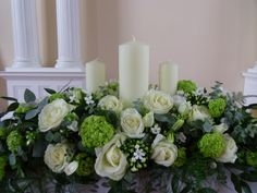 church pedestal flower arrangements - Google Search