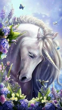Unicorn And Fairies, Unicorn Fantasy, Unicorns And Mermaids, Unicorn Art, Anime Fantasy, Beautiful Unicorn, Beautiful Fantasy Art, Mythical Creatures Art, Fantasy Creatures