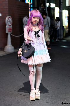 Moko from Hong Kong on the street in Harajuku w/... | Tokyo Fashion Japanese Street Fashion, Tokyo Fashion, Harajuku Fashion, Kawaii Fashion, Lolita Fashion, Harajuku Style, Quirky Fashion, Cute Fashion, Pastel Fashion