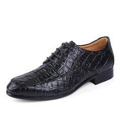 1bd57225fa4  EBay  Merkmak Genuine Leather Oxford Shoes For Men Business Men Crocodile Shoes  Men S Dress