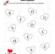 Ear training worksheet for Valentines Day This one is rhythmic