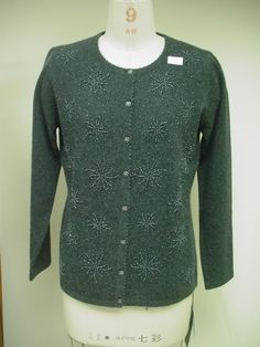 Hand Beaded Cashmere Sweater Factory Long Sleeve