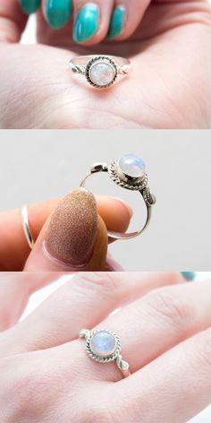 ➳ Rainbow Moonstone ➳ boholake // mystic // rings // jewellery // jewelry // sterling silver // boho // bohemian // jewels // hippie // gypsy www.boholake.co.uk