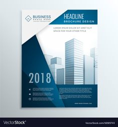 Business brochure leaflet cover page design for annual report vector illust Brochure Cover Design, Graphic Design Brochure, Brochure Layout, Graphic Design Services, Corporate Brochure Design, Design Poster, Flyer Design, Web Design, Design Flyers