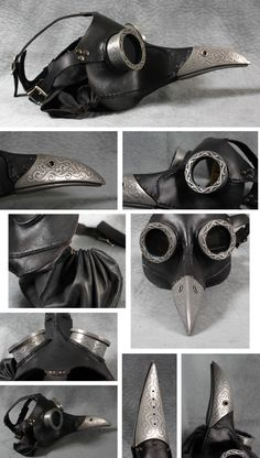 "Steampunk Plague Doctor Mask in black ""Ichabod"" by TomBanwell on Etsy https://www.etsy.com/listing/78161736/steampunk-plague-doctor-mask-in-black"