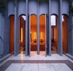 Exterior aspect of lofts and offices in an abandoned cement factory in Sant Just Desvern, Spain by Ricardo Bofill