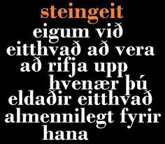 Steingeit (22. desember - 19. janúar)  ~ ellyarmannsdottir.blogspot.com