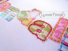 Stitchy Applique Font Set * Hand Stitched Look in 3 sizes