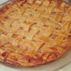 Peach Pie recipe. Peach Pie Recipes, Trifles, Peaches, Tarts, Delicious Desserts, Sweet Treats, Food And Drink, Pudding, Favorite Recipes