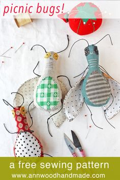 make a silly bug doll from scraps - free and easy sewing pattern sew einfach clothes crafts for beginners ideas projects room Plushie Patterns, Softie Pattern, Free Pattern, Easy Sewing Patterns, Doll Patterns, Sewing For Kids, Free Sewing, Softies, Felt Crafts
