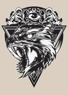 Eagle eye illustration by Shulyak Brothers , via Behance Sketch Tattoo Design, Tattoo Sketches, Tattoo Drawings, Art Drawings, Tattoo Designs, Tattoo Art, Eye Illustration, Animal Illustrations, Eagle Art