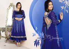 Exclusive Fancy Blue Color Designe Anarakali #SalwarSuit @ 39% Discount