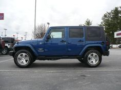 I have the 2010 version of this Jeep - same color, love it!   Vehicle Photo: 2009 Jeep Wrangler Unlimited Sahara  .... Love this blue