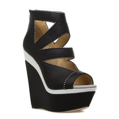 Chika - ShoeDazzle - How amazing are these edgy wedges?!