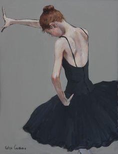 Katya gridneva_Ballerina in Black_Pastel_15x12_1.900.jpg ♥ Wonderful! www.thewonderfulworldofdance.com #ballet #dance