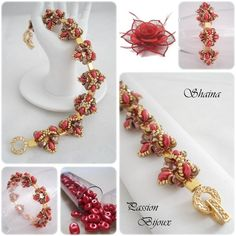 *P Beading Tutorial Bracelet SHAINA step by step with pictures