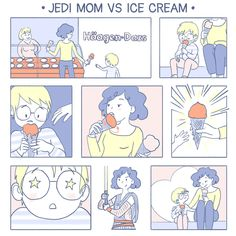 Jedi mom vs Ice cream #comic #webcomic #parenthood #paleanddelicate