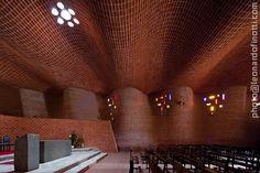 Interior of the Iglesia de Estación Atlántida (Church of Atlantis Station), a Roman Catholic parish church in Estación Atlántida, Uruguay.