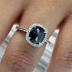 Coby Madison offers a large selection of unique designer inspired black diamond engagement rings with beautiful designs created to enhance the black diamond center. Make a bold statement with a exquisite black diamond ring