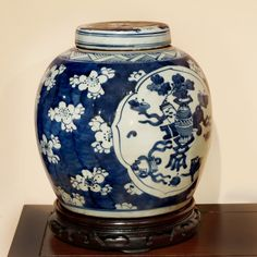 Known for its tranquil beauty, blue-and-white porcelain has long been a favorite for the British import from China since the 18th century. Originally used to store rice, now it is considered a classic work of art for home decoration. Color and size may vary slightly with each one due to its hand-crafted nature. Please allow us to select for you. Matching wooden stand sold separately (Part No. RB101065).