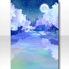 @trade | オリエンタルポンドガーデンの背景 夜桜 Chibi Characters, Cocoppa Play, Illusion Art, Merfolk, Painting Tools, Pretty Wallpapers, Beautiful Love, Anime Outfits, Dream Garden