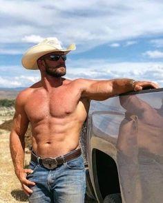 Hot Country Boys, Shirtless Hunks, Hunks Men, Male Hunks, Hot Cowboys, Beefy Men, Outdoor Men, Muscular Men, Bearded Men