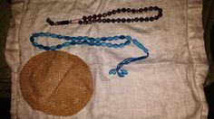 Jewish Yamaka  crochet vintage prayer beads by DesiresAndNeeds, $50.05